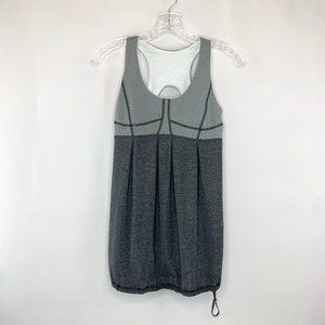 lululemon gray and white striped racerback tank